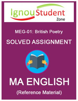IGNOU MEG 1 Solved Assignment
