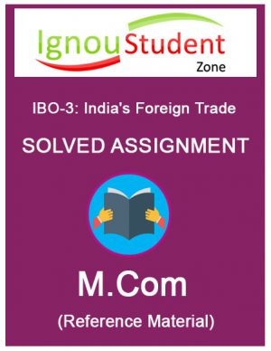 IGNOU IBO 3 Solved Assignment (M.Com 1st year)