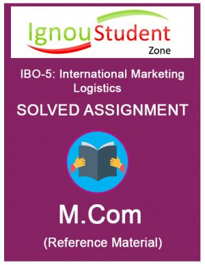IGNOU IBO 5 solved assignment (M.Com 1st year)