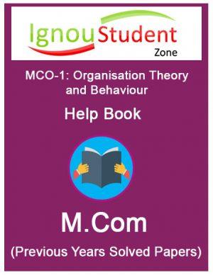 IGNOU MCO 1 Book