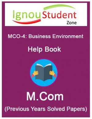 IGNOU MCO 4 Book