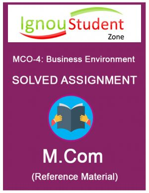 IGNOU MCO 4 Solved Assignment (M.Com 2nd year assignments)
