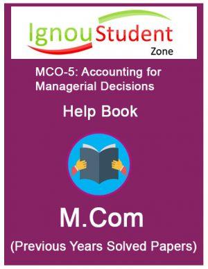 IGNOU MCO 5 Book