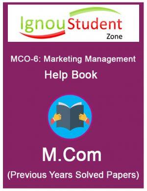 IGNOU MCO 6 Book