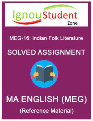IGNOU MEG 16 Solved Assignment