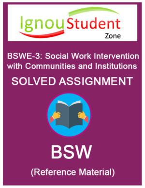 IGNOU BSWE 3 Solved Assignment