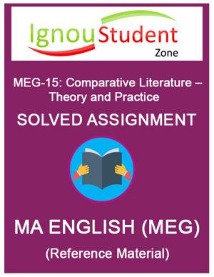 IGNOU MEG 15 Solved Assignment